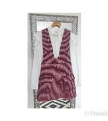 Maje trompe-l'œil tweed haljina u 2 dijela