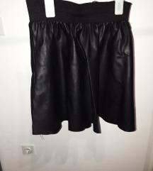 Kožna mini suknja