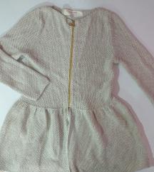 Zara knit vesta tunika na zip