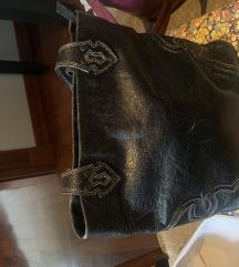 Kožna torba crna