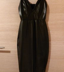 Kožna midi haljina BooHoo ☆ NOVO s etiketom