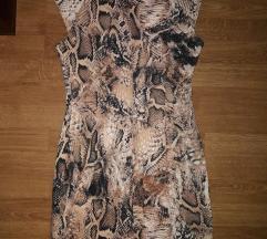 NOVO zmijska haljina do koljena