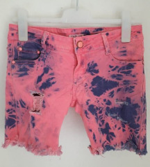Traper vruće hlačice šorc 38 neon roze