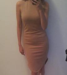 Missguided nude midi haljina
