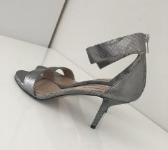 Pura lopez srebrene matt niske sandale