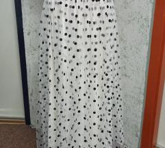 Točkasta suknja sa tilom