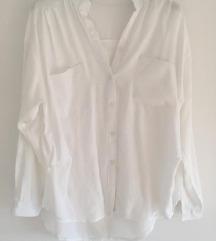 Predivna bijela lanena košulja vel S