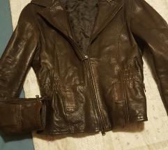 Prava kozna jakna vel M