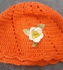 Pletena kapa za djevojčice