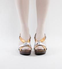 Zlatno-srebrne sandale