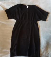 Crna zimska haljina Mango