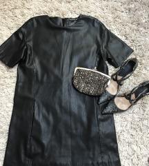 Zara nova kožna haljina