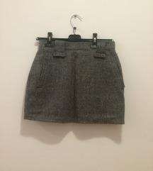 Vintage vunena mini suknja xs s
