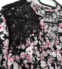 Nova cvjetna bluza s čipkom