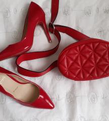 Stradivarius crvena torbica oko struka
