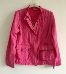 Pink šuškava jakna vel M-L