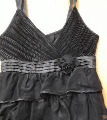 SNIZENO Crna vecernja haljina