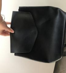 ZARA crni kozni ruksak