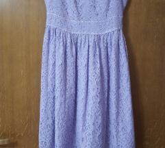 Ljubičasta čipkasta haljina ( PT uključena! )