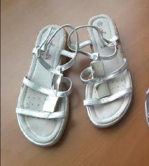 Srebrne sandale za djevojčice