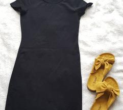 Mala crna pamučna haljinica