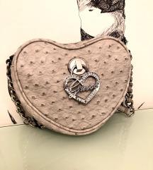 Guess vintage bež siva srce torbica ORIGINAL