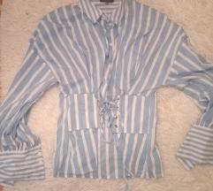 košulja od fine viskoze - sa steznikom