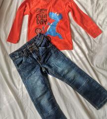 Lot traperice i majica za dječake 104