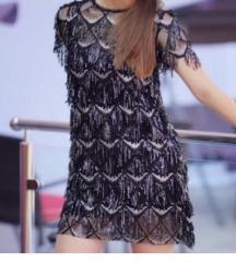 Zara šljokasta haljina