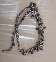 Zara srebrni remen na cvjetove