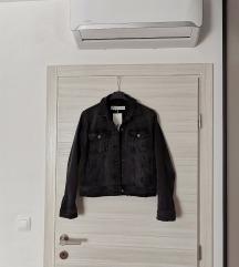 NOVO Zara crna jeans jakna sa etiketom M
