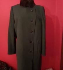 zeleni kaput s krznom