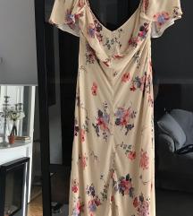 ZARA STUDIO zuta cvjetna haljina, nova s etiketom