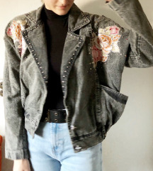 Retro glam traper jakna sa zakovicama