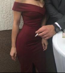 Uska bordo haljina za više prilika