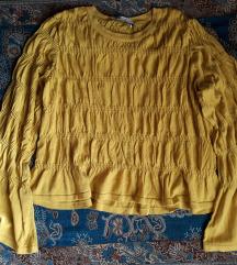 ZARA žuta majica s naborima