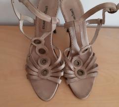 Skupe bež štikle sandale 10 cm