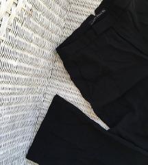 ZARA crne trapez hlače visokog struka