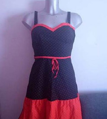 Ljetna retro haljina na točkice