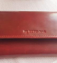 Novi crveni  kożni novčanik od krsvlje koze