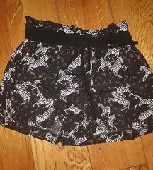 ZARA zebra kratke hlače xs