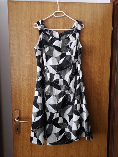 *Svečana crno bijela haljina