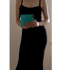 crna haljina na bretelice