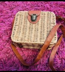 Pleteno kožna torbica