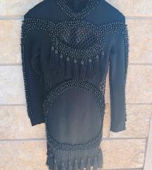 BALMAIN crna uska haljina - NOVO