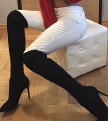 Zara čizme sa visokom čarapom