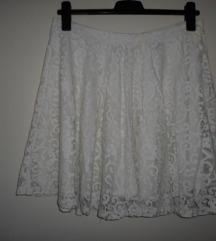 H&M čipkasta suknja vel.L