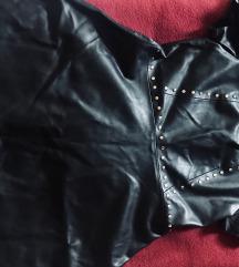 Crna kožna haljina Zara