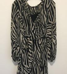 Zara kimono zebra print haljina S PT