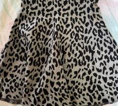Suknja sivog tigrastog uzorka